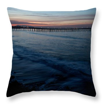 Ventura Pier Sunrise Throw Pillow by John Daly
