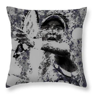 Venus Williams Paint Splatter 2e Throw Pillow by Brian Reaves