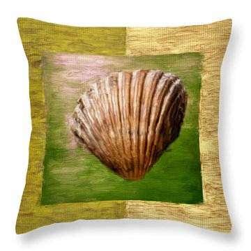 Verde Beach Throw Pillow by Lourry Legarde