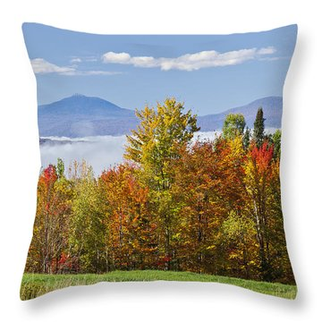 Vermont October Morning Throw Pillow by Alan L Graham