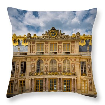 Versailles Courtyard Throw Pillow by Inge Johnsson