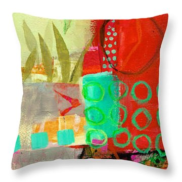 Vertical 5 Throw Pillow by Jane Davies