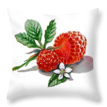 Artz Vitamins A Very Happy Raspberry Throw Pillow by Irina Sztukowski