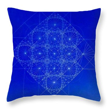 Vibrating Space Time Throw Pillow by Jason Padgett