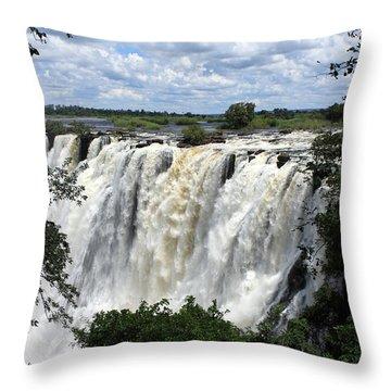 Victoria Falls View  Throw Pillow by Aidan Moran