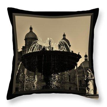 Decorative Pillows Victoria Bc : Victoria Fountain Photograph by Barbara St Jean