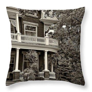 Victorian Classic Sepia Throw Pillow by Steve Harrington