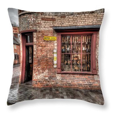 Victorian Corner Shop Throw Pillow by Adrian Evans