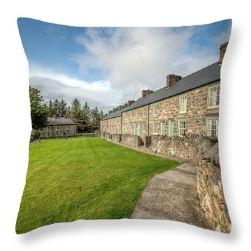 Victorian Cottages Throw Pillow by Adrian Evans