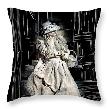 Victorian Lady Throw Pillow by John Haldane
