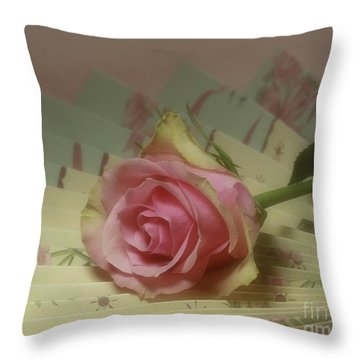 Victorian Rose Throw Pillow by Inspired Nature Photography Fine Art Photography