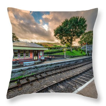 Victorian Station Throw Pillow by Adrian Evans