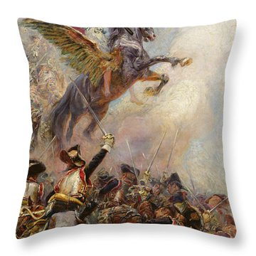 Victory Throw Pillow by Jean-Baptiste Edouard Detaille