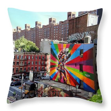 View From The Highline Throw Pillow by Ed Weidman