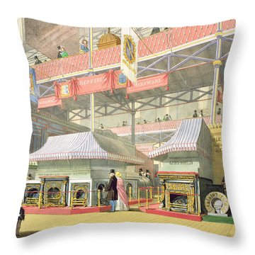 View Of The Sheffield Hardware Stand Throw Pillow by English School