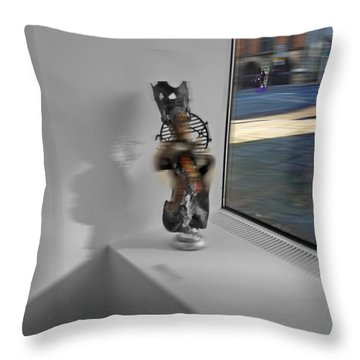 Viewdoo Throw Pillow by Charles Stuart