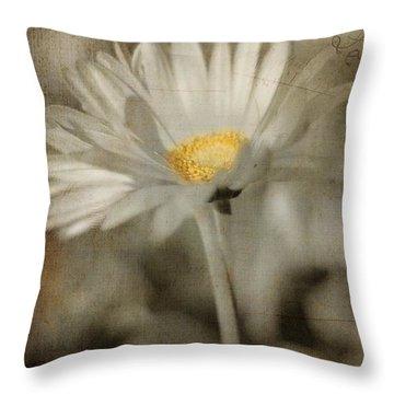 Vintage Daisy Throw Pillow by Joann Vitali