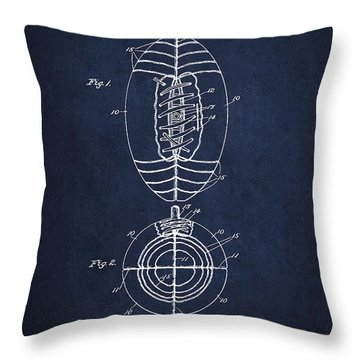 Vintage Football Patent Drawing From 1923 Throw Pillow by Aged Pixel