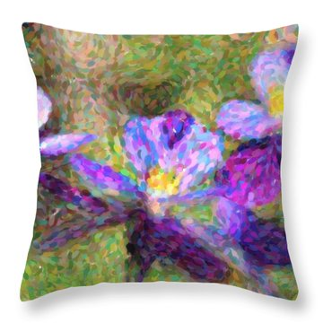 Violet Flowers Throw Pillow by Toppart Sweden