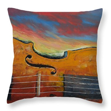 Violin Throw Pillow by Michael Creese