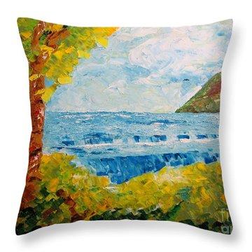Virgin Nature Throw Pillow by Mario Perez