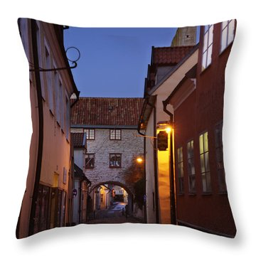 Visby Evening  Throw Pillow by Ladi  Kirn