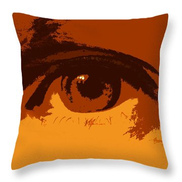 Vision Throw Pillow by Skip Tribby