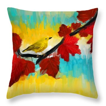 Vividness Throw Pillow by Lourry Legarde