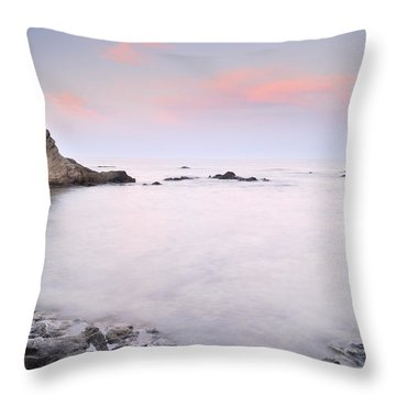 Volcanic Pink Sunset Throw Pillow by Guido Montanes Castillo