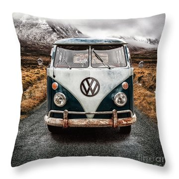 Vw In Glen Etive Throw Pillow by John Farnan
