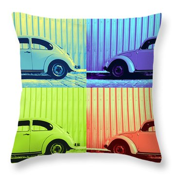 Vw Pop Summer Throw Pillow by Laura Fasulo