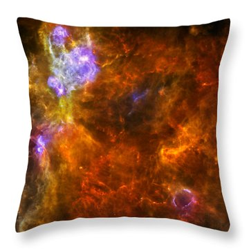 Throw Pillow featuring the photograph W3 Nebula by Science Source