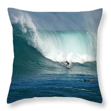 Waimea Bay Monster Throw Pillow by Kevin Smith