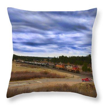 Waiting At The Gates Version 2 Throw Pillow by Ken Smith