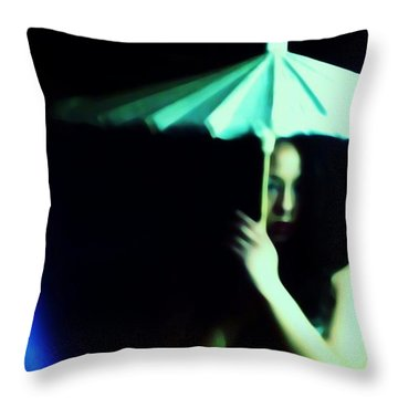 Waiting For A Chance Throw Pillow by Jessica Shelton