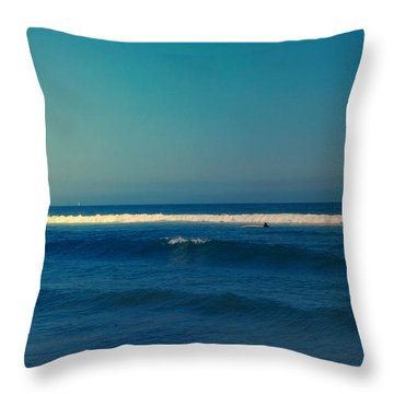 Waiting For The Perfect Wave Throw Pillow by Nina Prommer