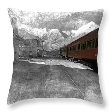 Waiting For The Take Off Throw Pillow by Gunter Nezhoda