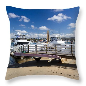 Waiting For The Weekend Throw Pillow by Heidi Smith