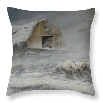Waiting Out The Storm Throw Pillow by Mia DeLode