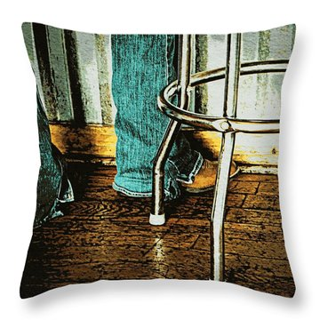 Waiting Waitress  Throw Pillow by Chris Berry