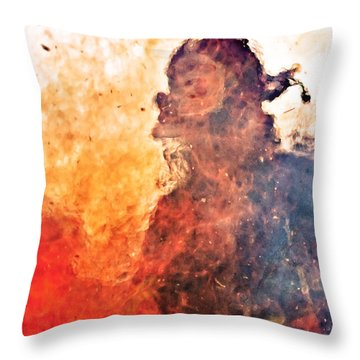 Walk Through Hell Throw Pillow by Everet Regal