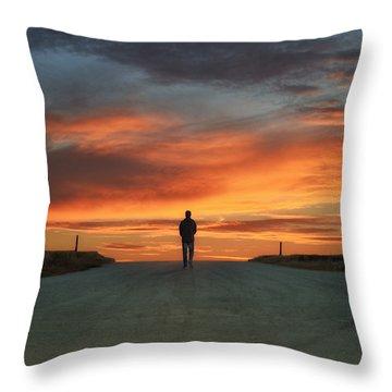 Walk Towards The Light Throw Pillow by Steven  Michael