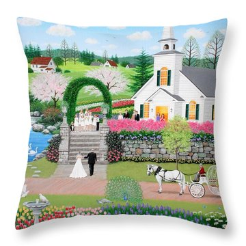 Walk With My Father Throw Pillow by Wilfrido Limvalencia