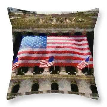 Wall Street Throw Pillow by George Atsametakis