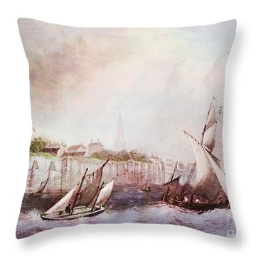 Walls Of Southampton Throw Pillow by Lianne Schneider