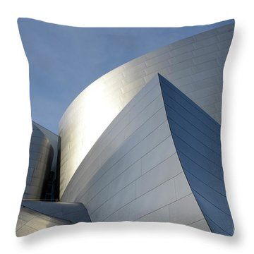 Walt Disney Concert Hall 14 Throw Pillow by Bob Christopher