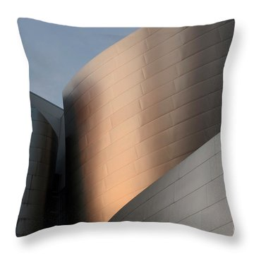 Walt Disney Concert Hall 15 Throw Pillow by Bob Christopher