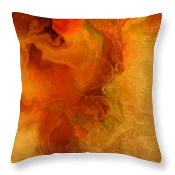 Warm Embrace - Abstract Art Throw Pillow by Jaison Cianelli