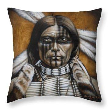 Warpaint Throw Pillow by Tim  Scoggins