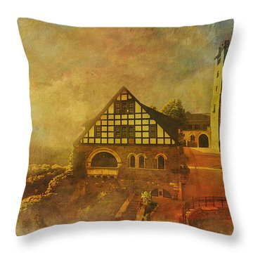 Wartburg Castle Throw Pillow by Catf